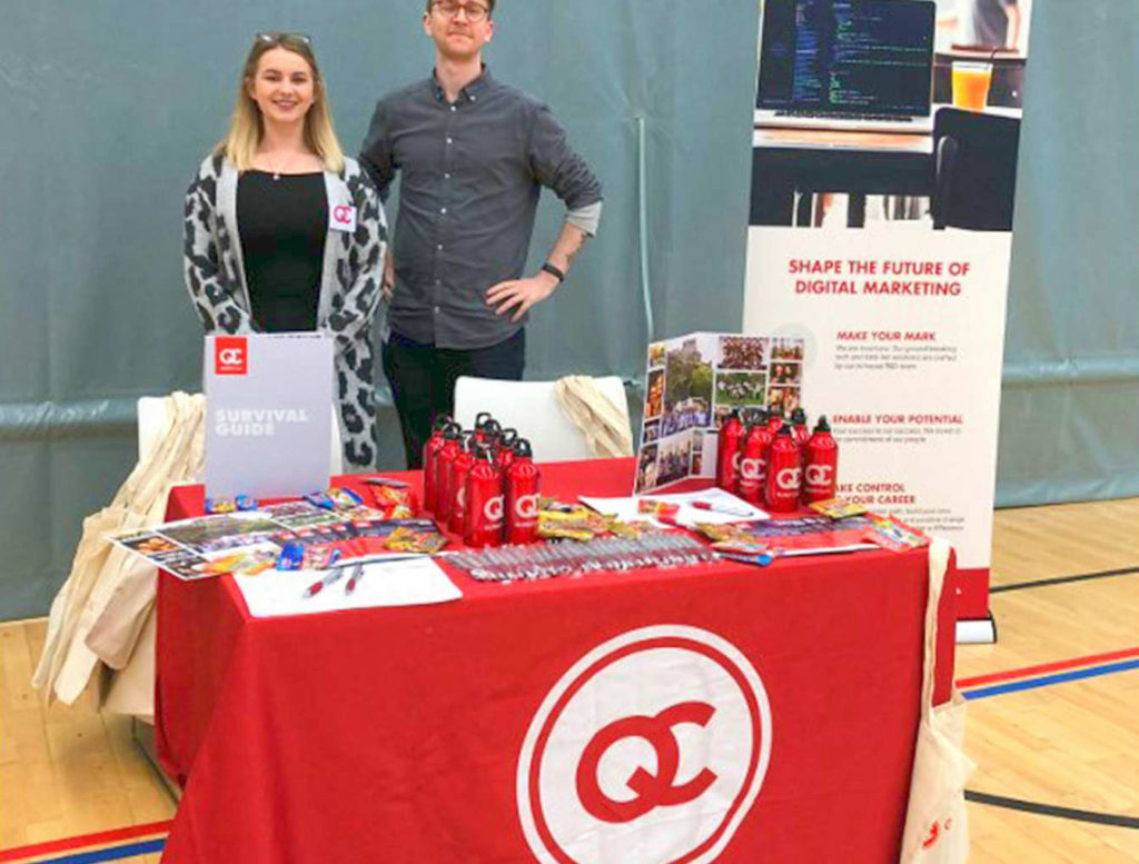 QueryClick at the careers fair