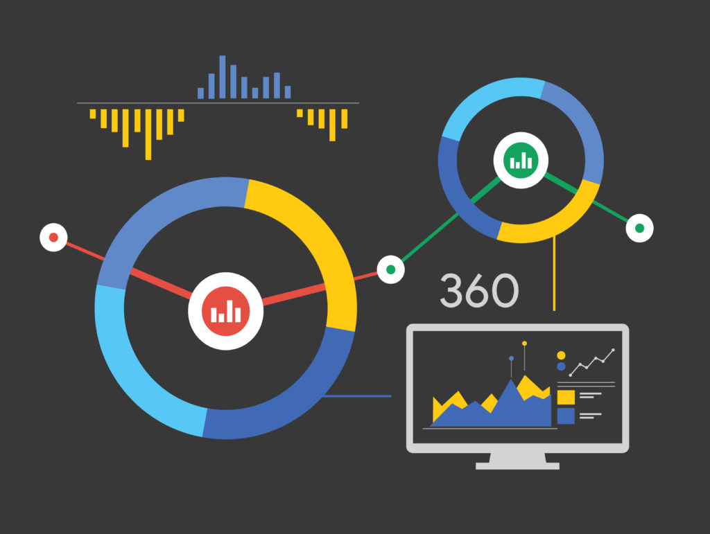 Visual graphic representing marketing attribution - no text