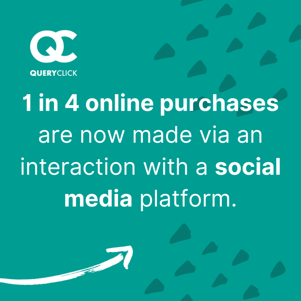 1 in 4 online purchases are now made via an interaction with a social media platform