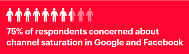 Concern about Google and Facebook saturation